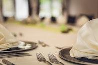 dinner, table, cutlery