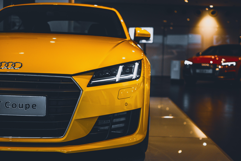 Yellow Audi Car Free Stock Photo