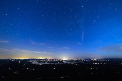 경치, 밤, 별, 불빛의 무료 스톡 사진