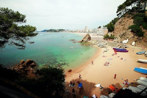 Foto d'estoc gratuïta de aigua, Costa, gent, mar