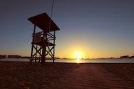 sea, dawn, sky