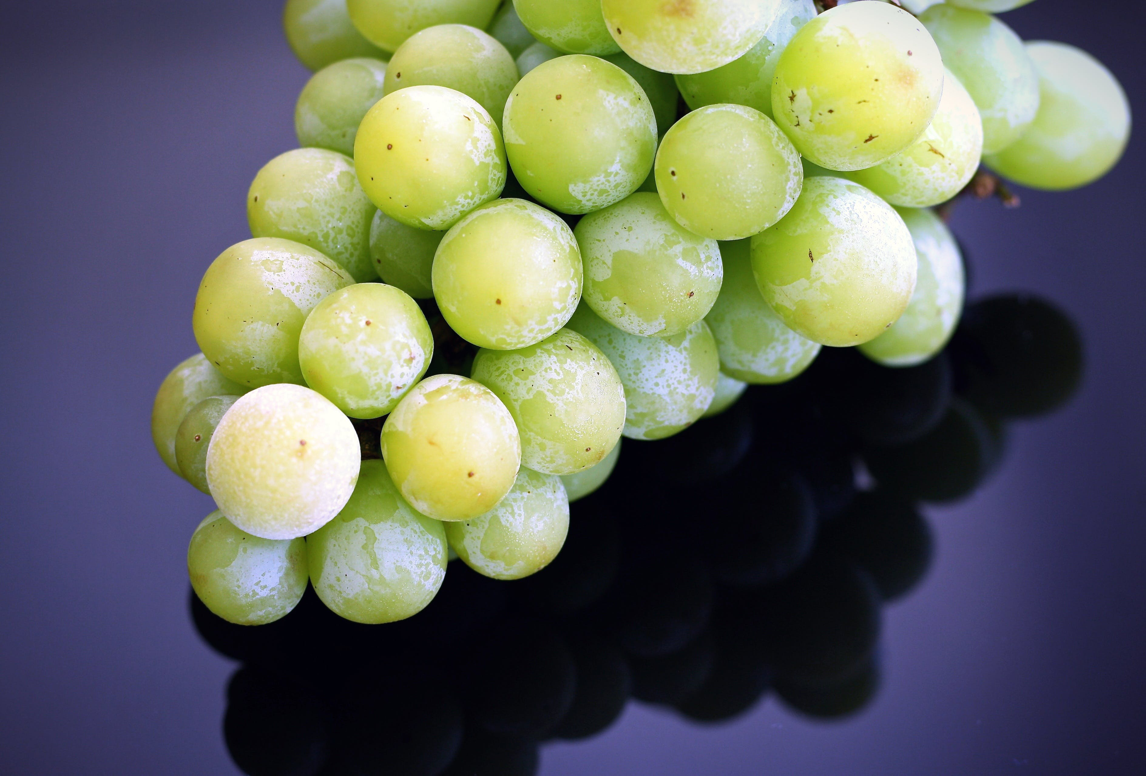 Green Grapes on Top of the Table