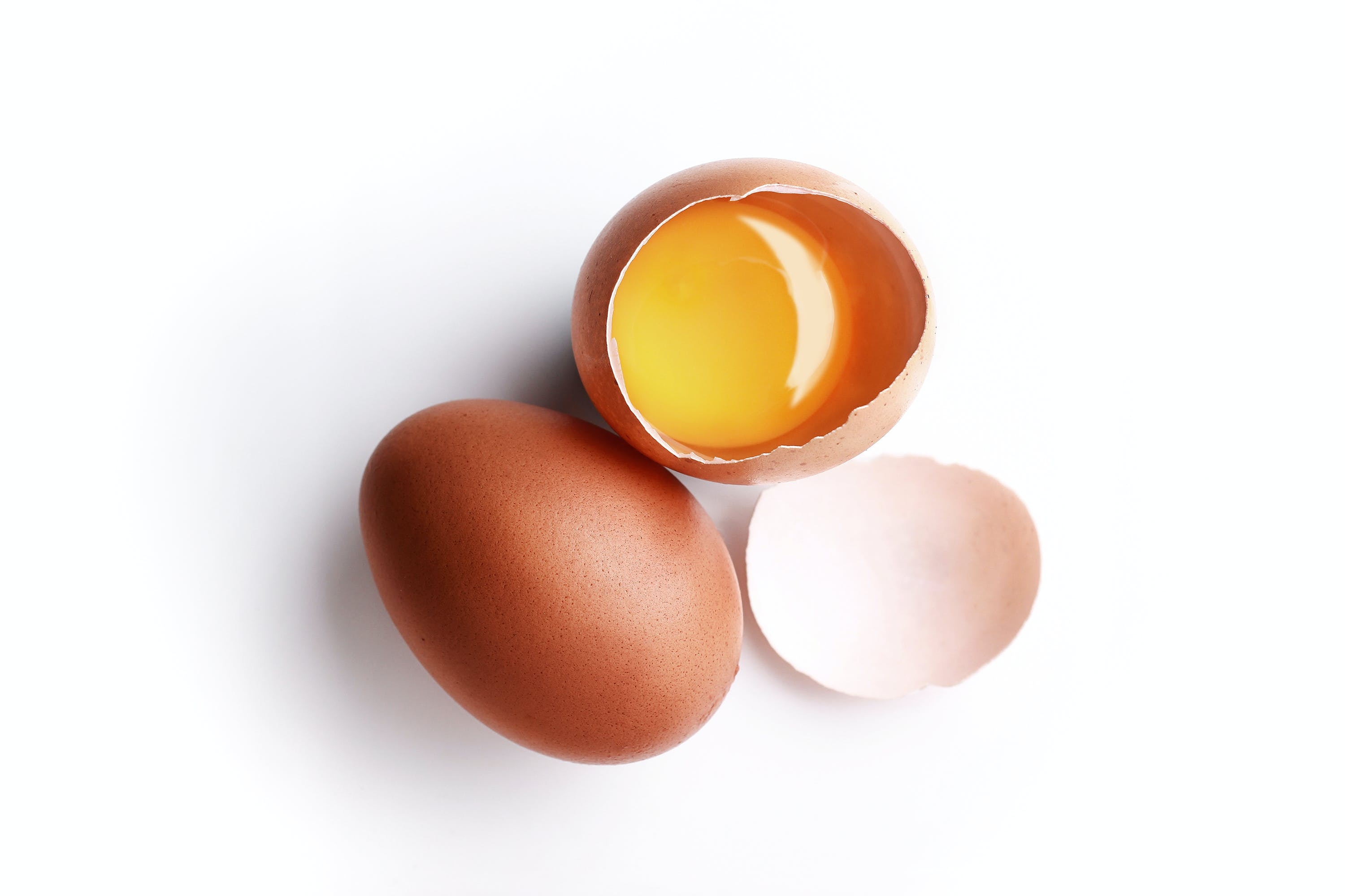 Free stock photo of Chicken egg, egg yolk, eggs