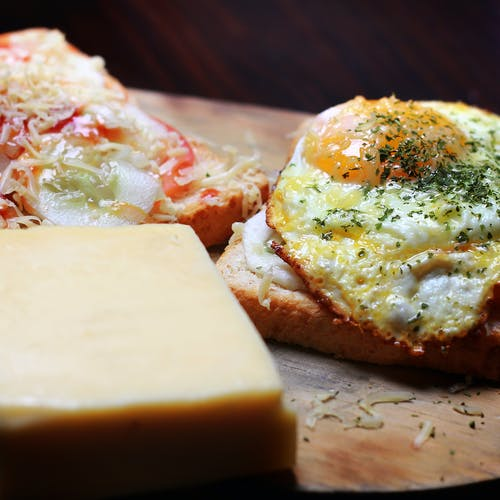 Free stock photo of egg, egg yolk, sandwich