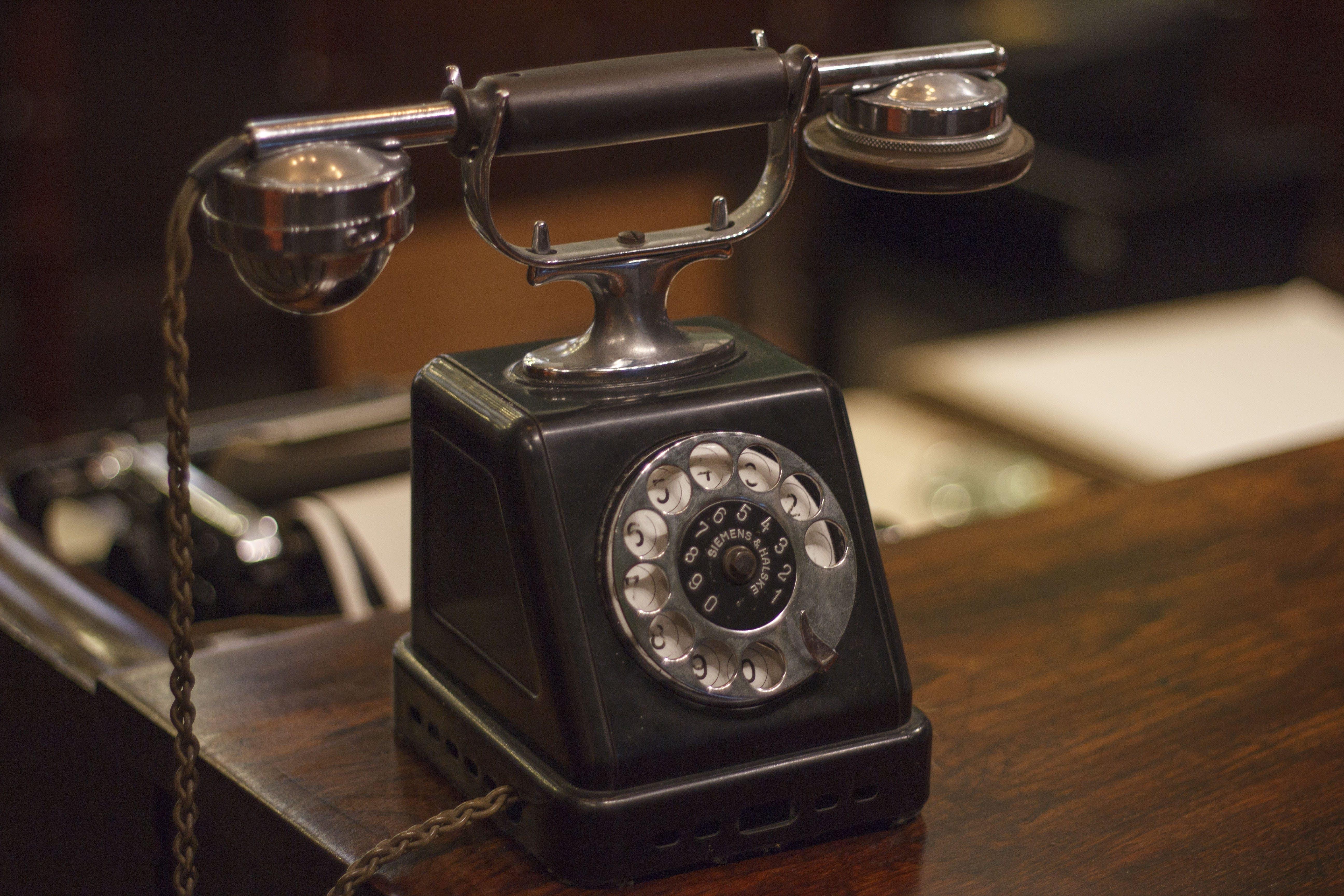 Free stock photo of old phone, vintage, vintage phone