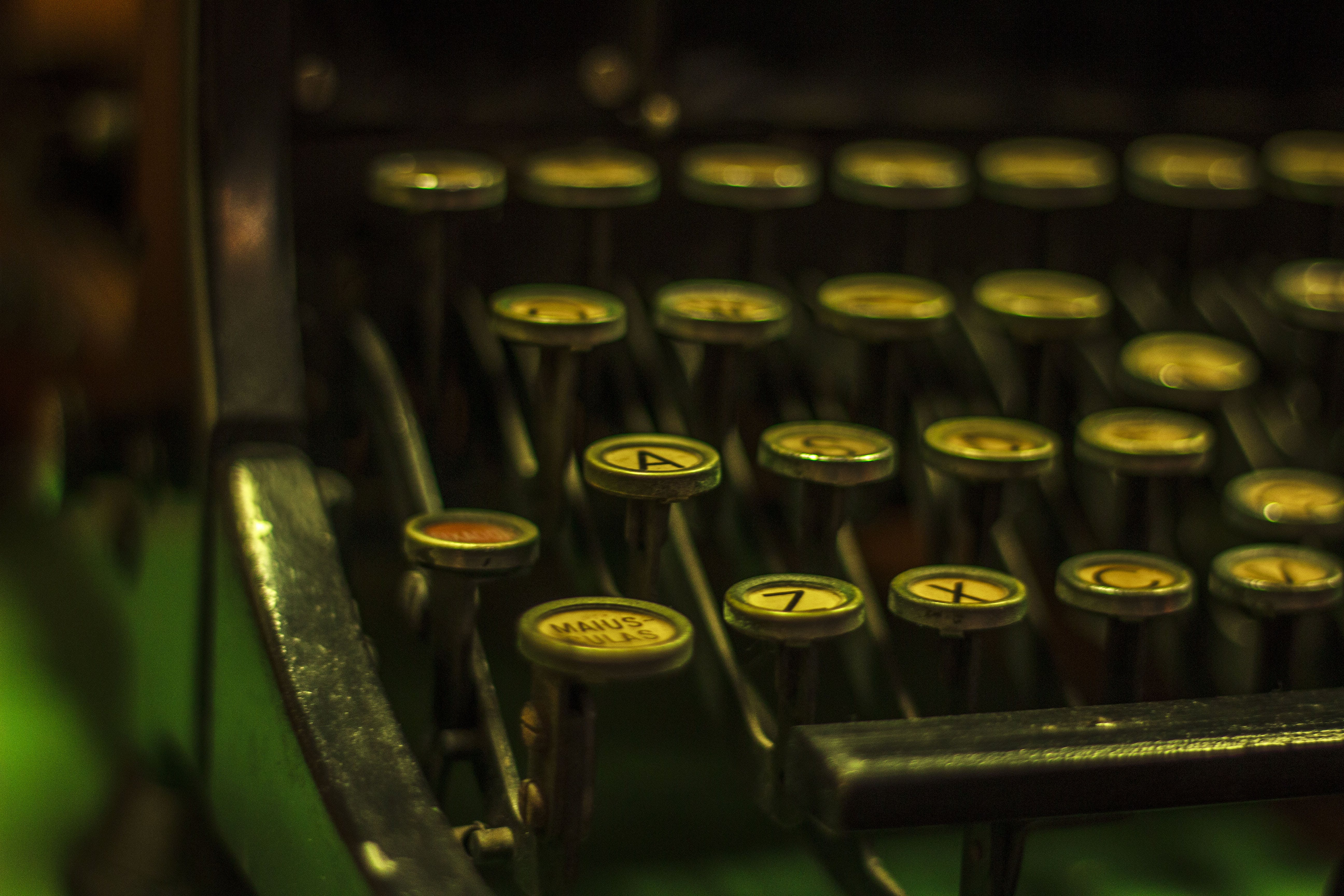 Free stock photo of vintage, vintage typewriter, A Letter