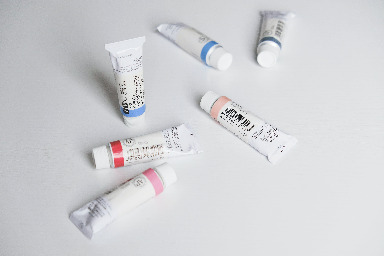 Six Soft-tubes on White Panel