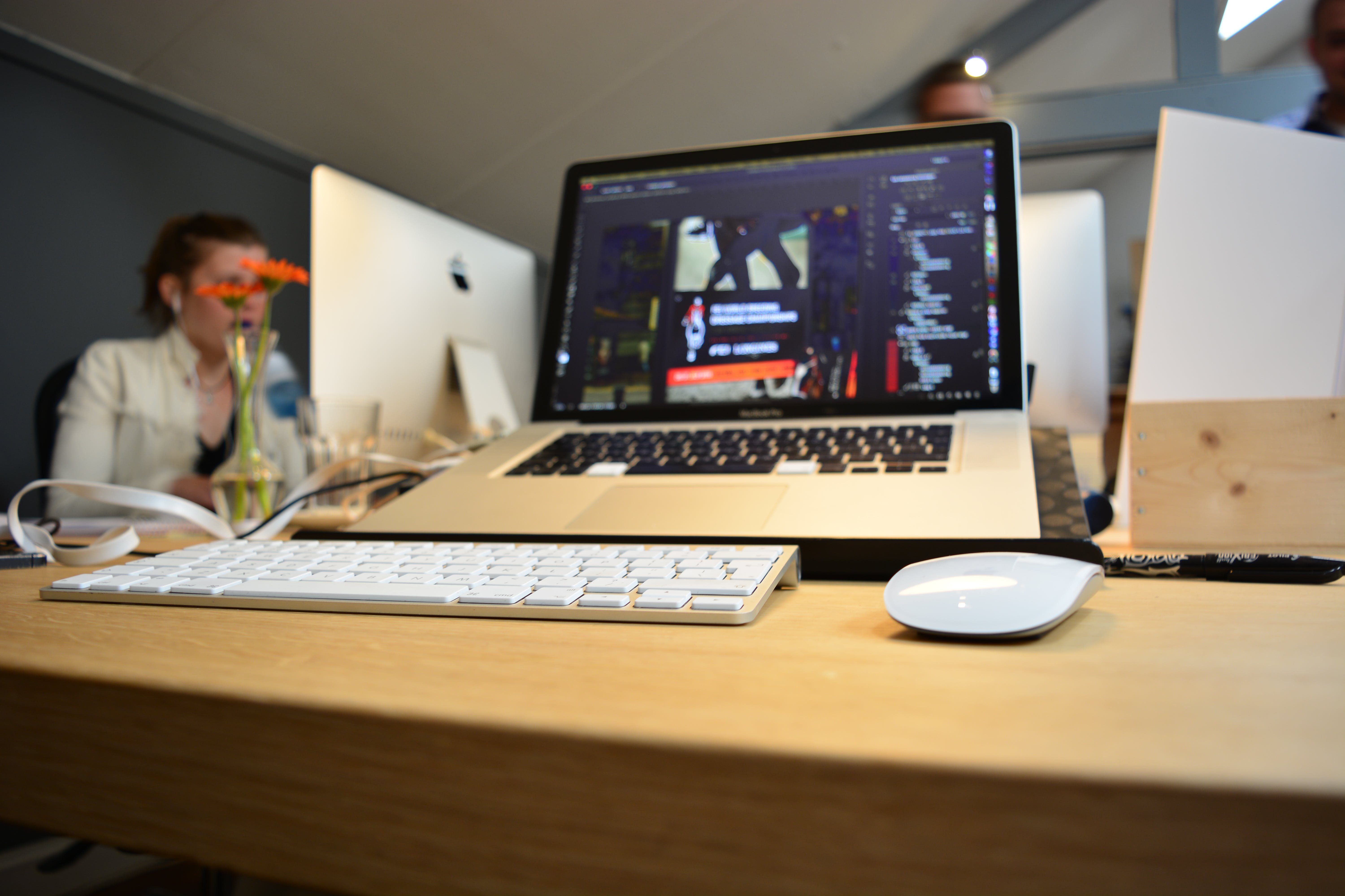 Free stock photo of keyboard, macbook, mouse, office