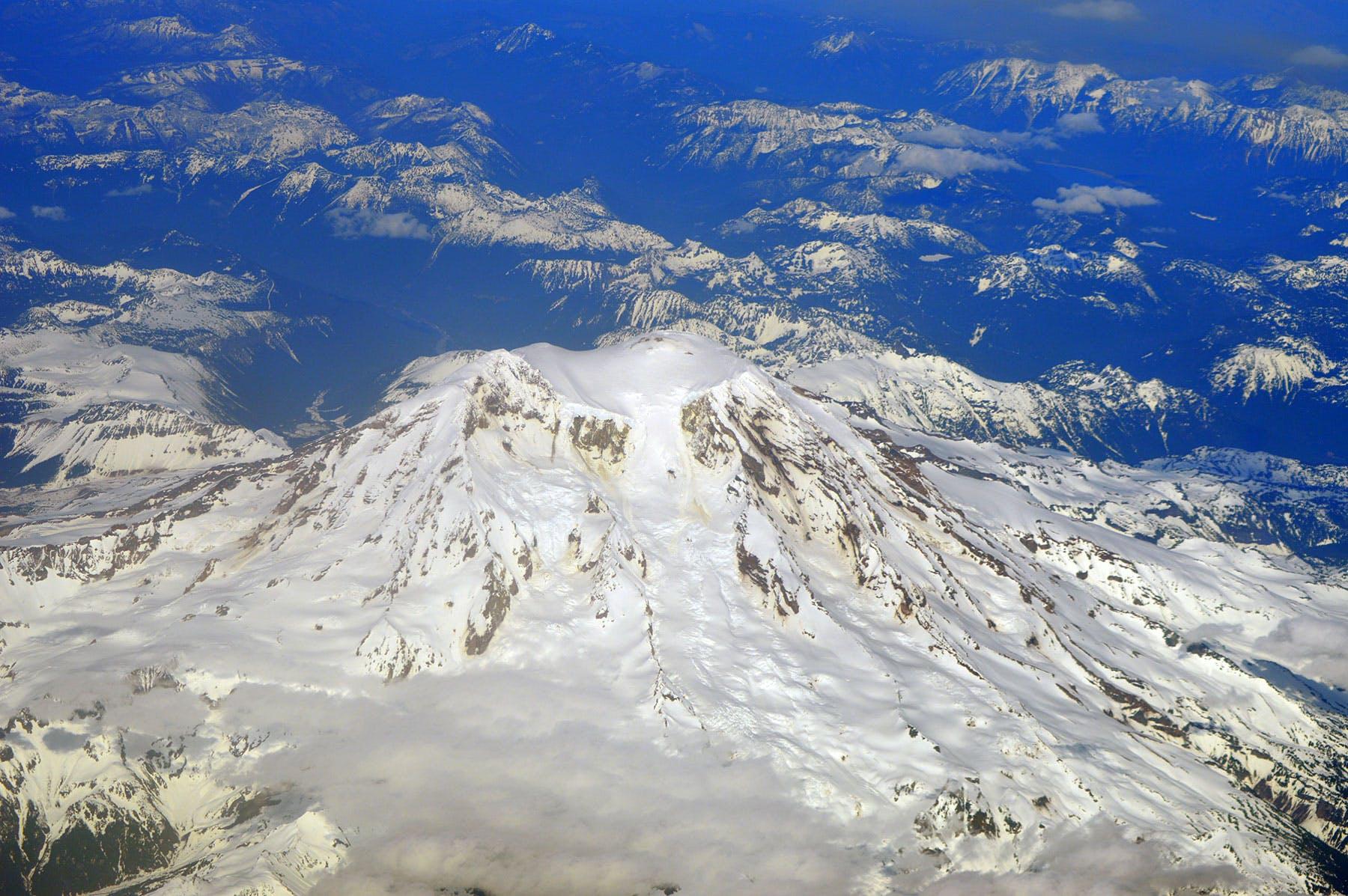 Free stock photo of snow, flight, snow capped mountain