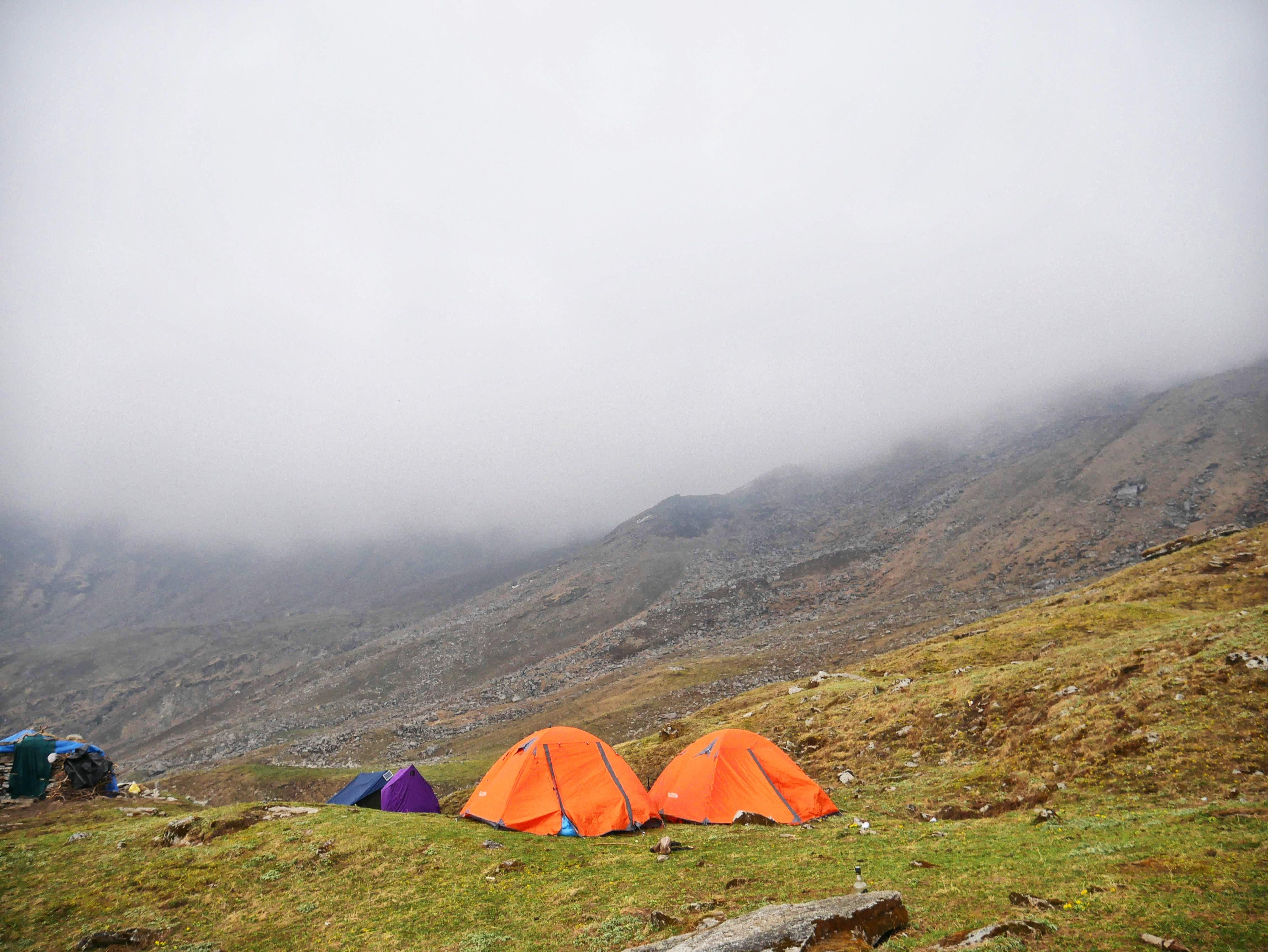 Free stock photo of himalaya, mountain, natue, tent