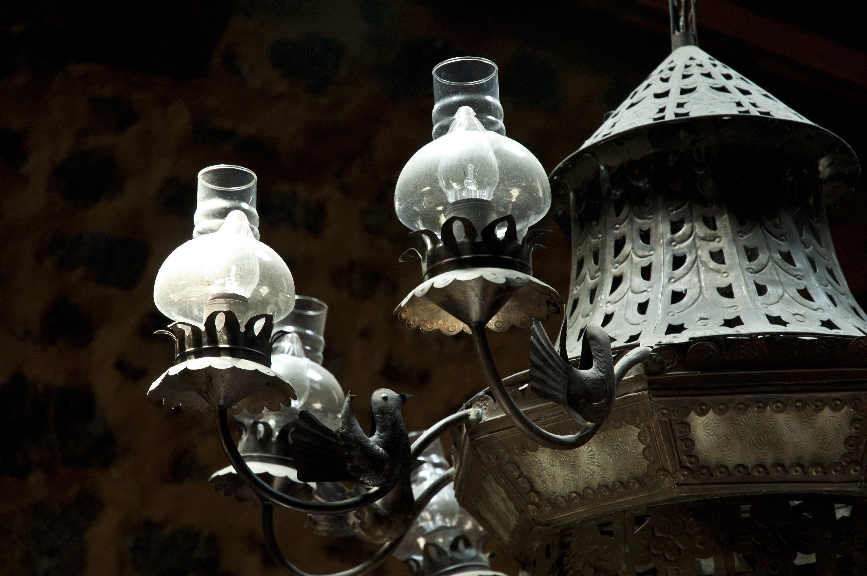 Free stock photo of antique, lamp, light, object