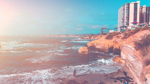 Free stock photo of beach, la jolla, san diego, tones