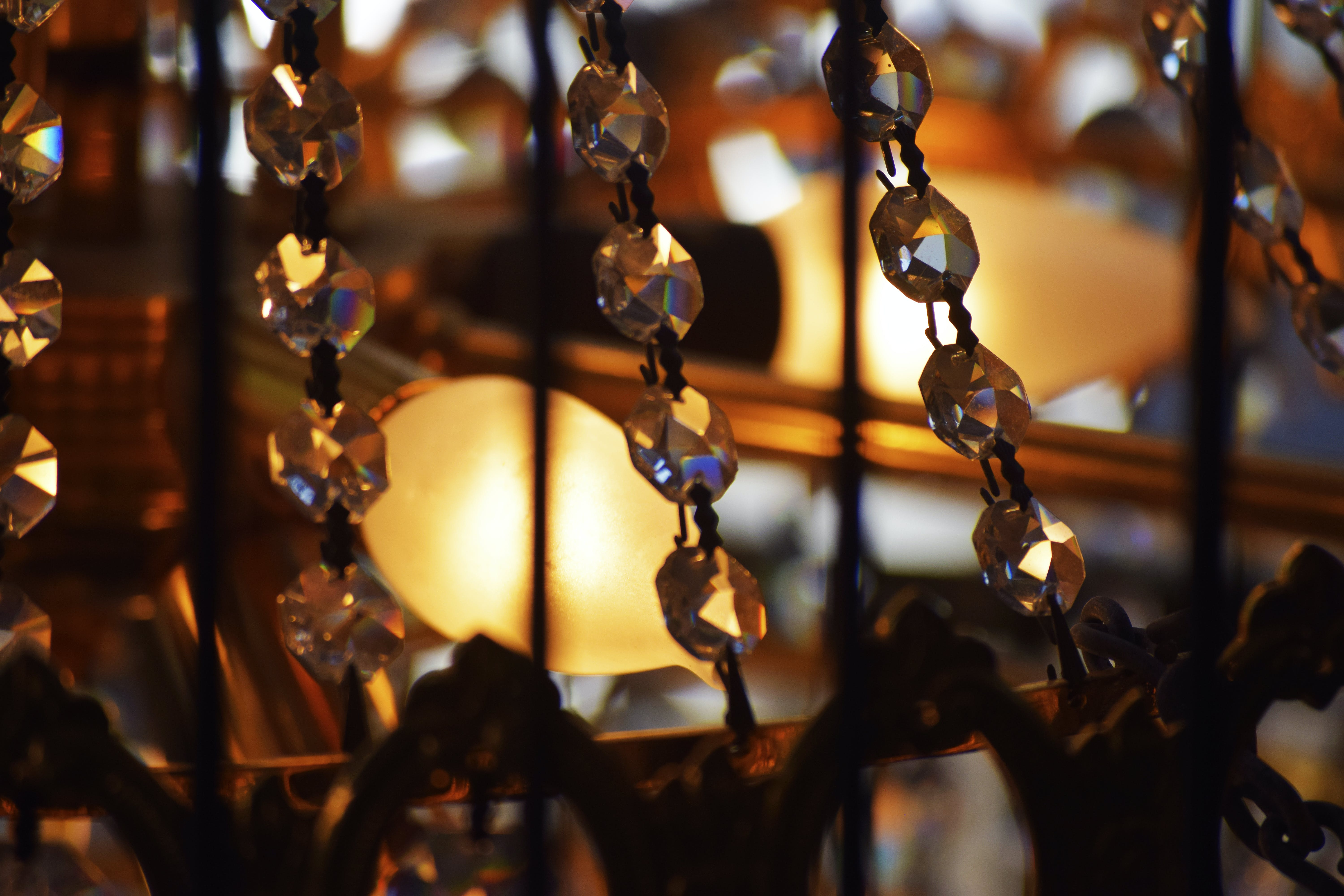Free stock photo of beautiful, bulb, chandelier, crystal