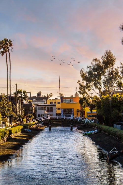 Ilmainen kuvapankkikuva tunnisteilla 4k taustakuva, auringonlasku, venetsian kanavat
