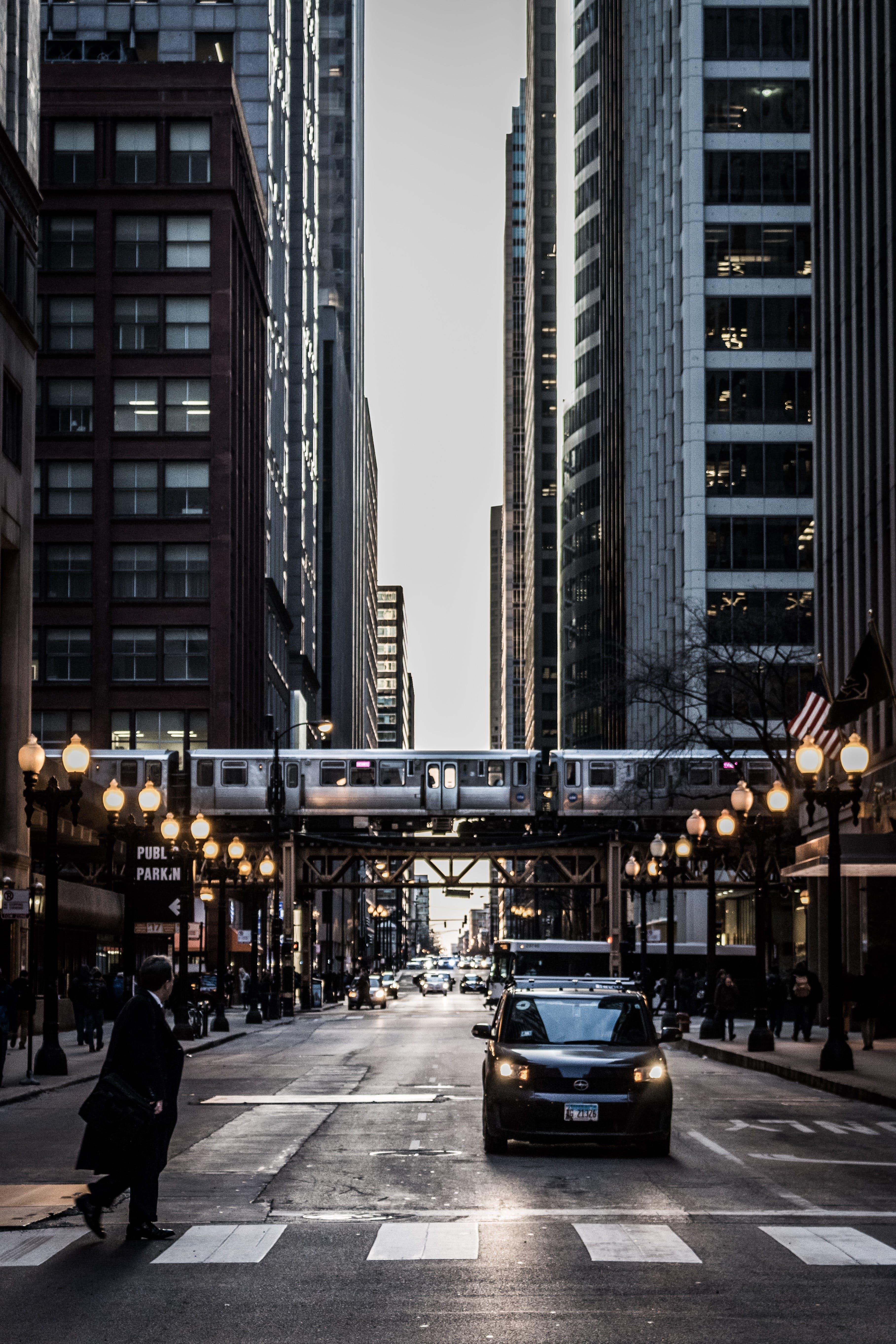architecture, asphalt, big city