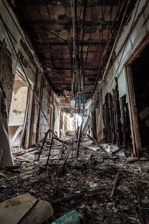 Kostnadsfri bild av arkitektur, förstörelse, kuslig, övergiven