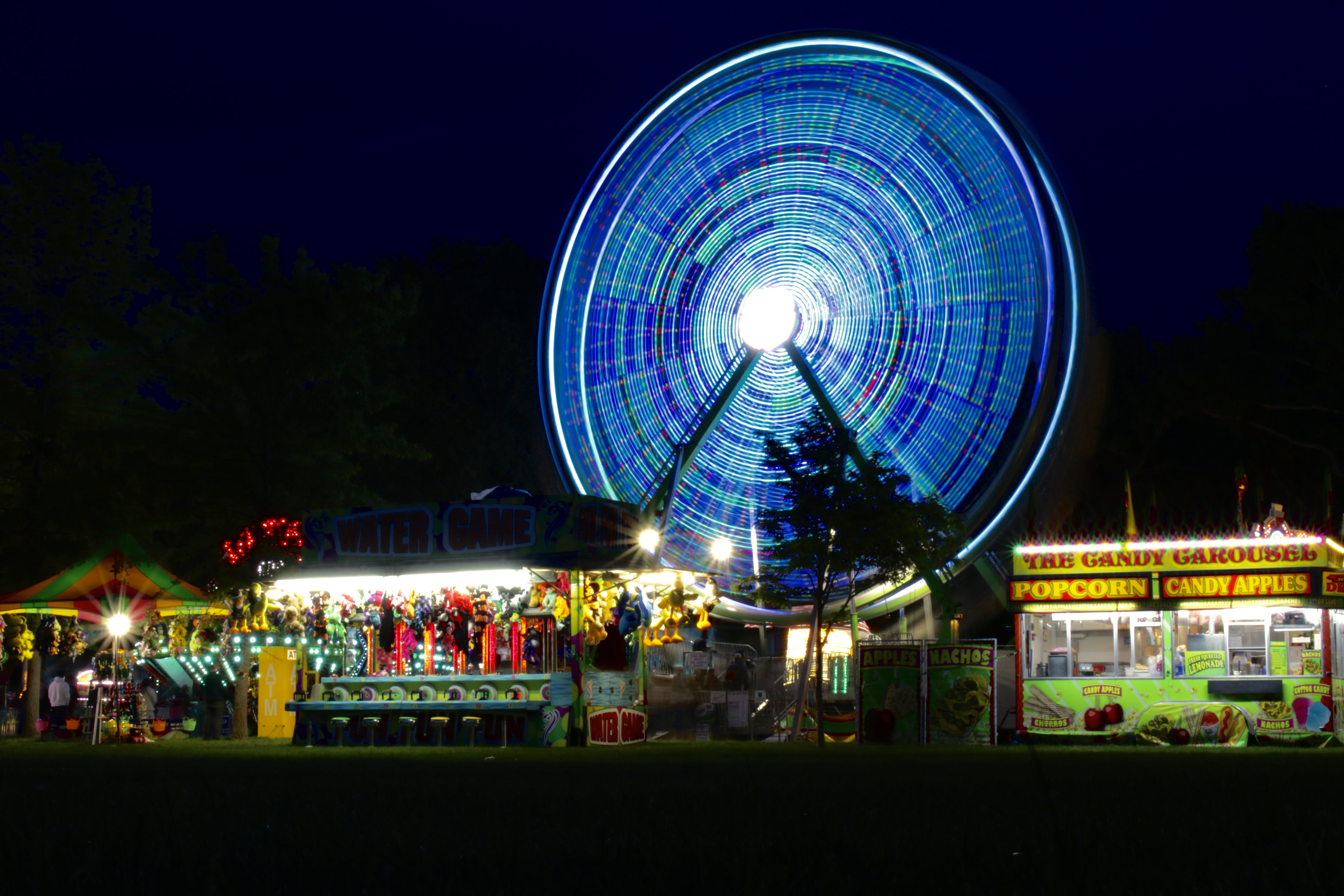 View of Amusement Park during Night