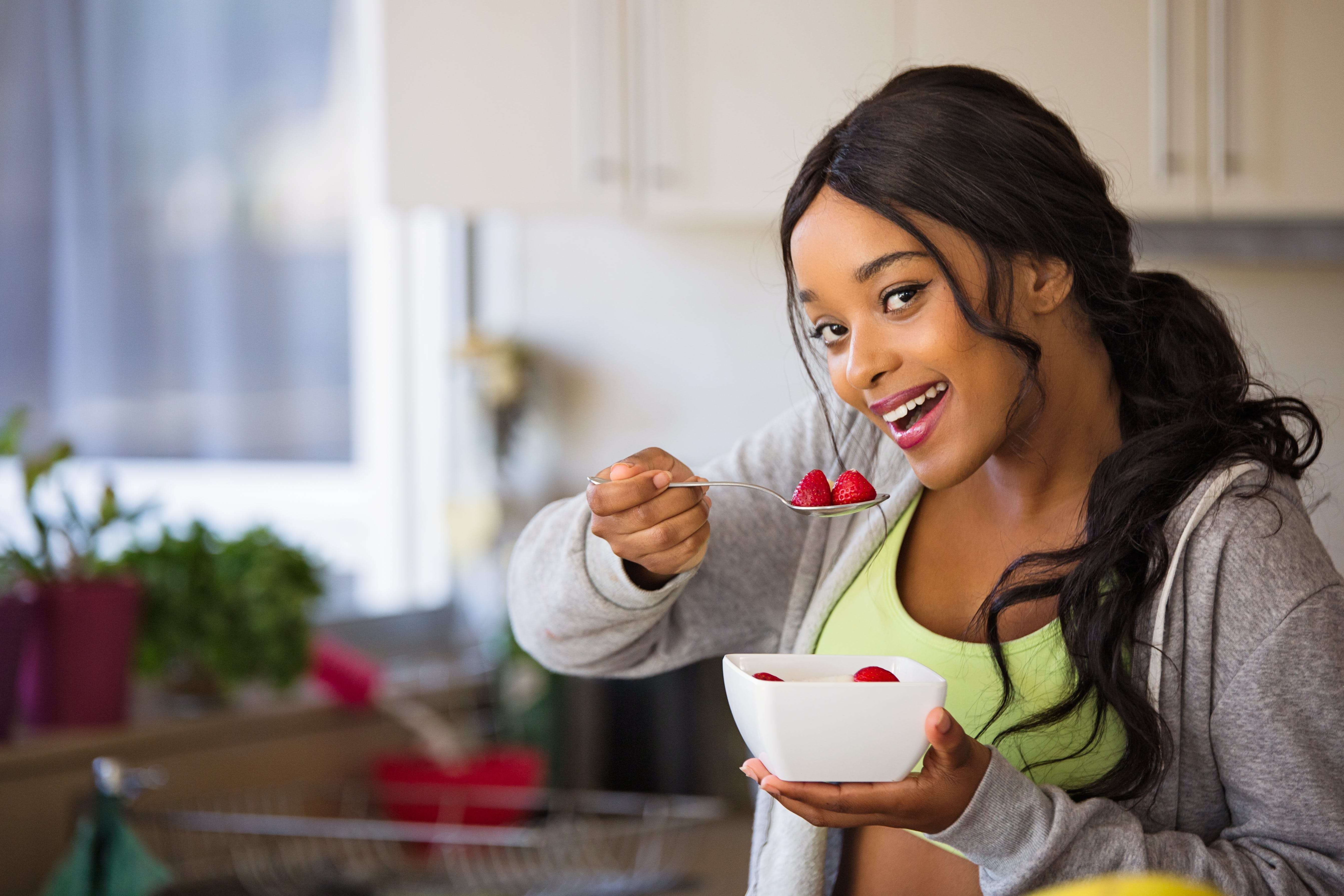 Woman About to Eat Strawberry