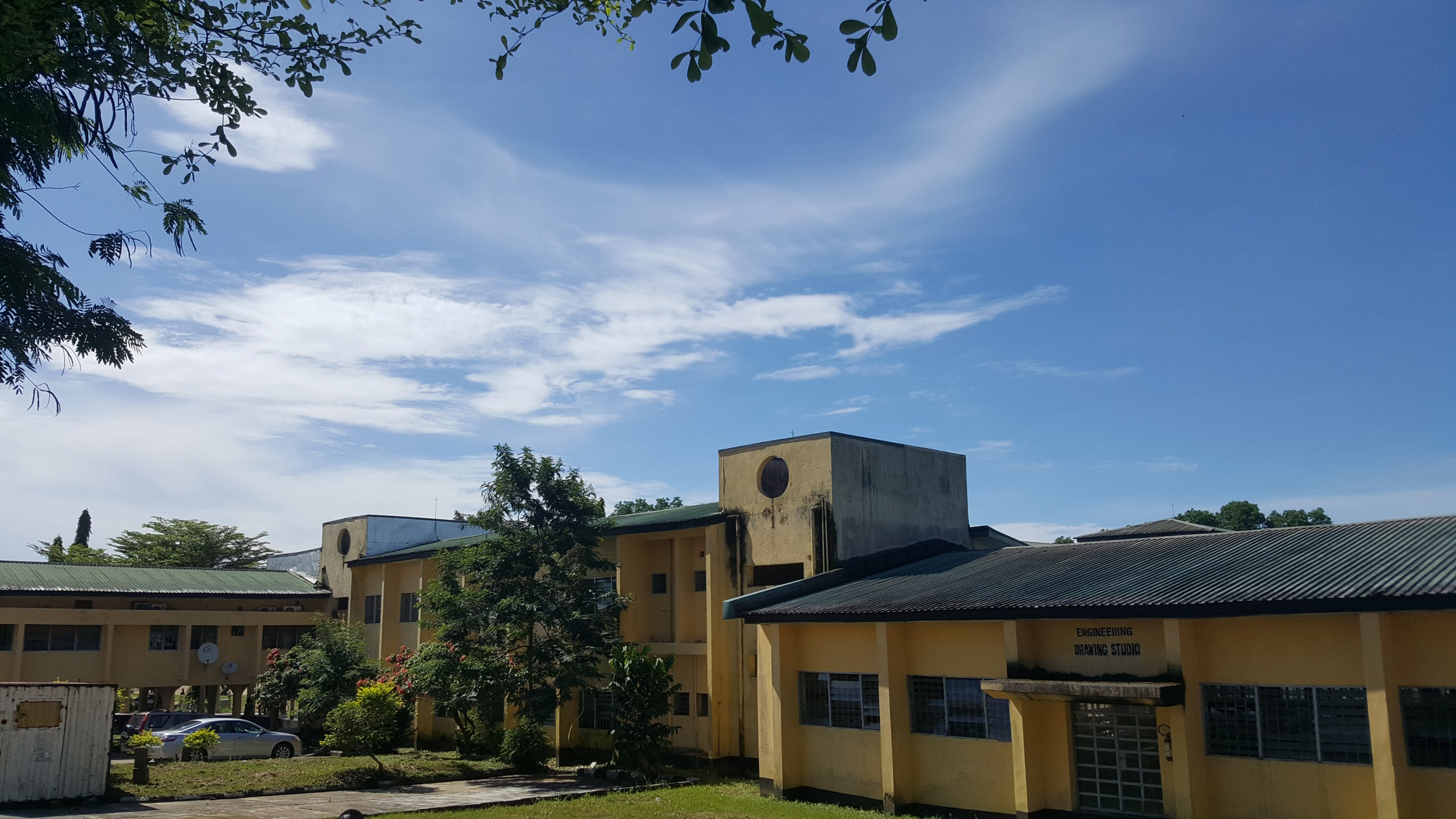 Free stock photo of blue sky, school building