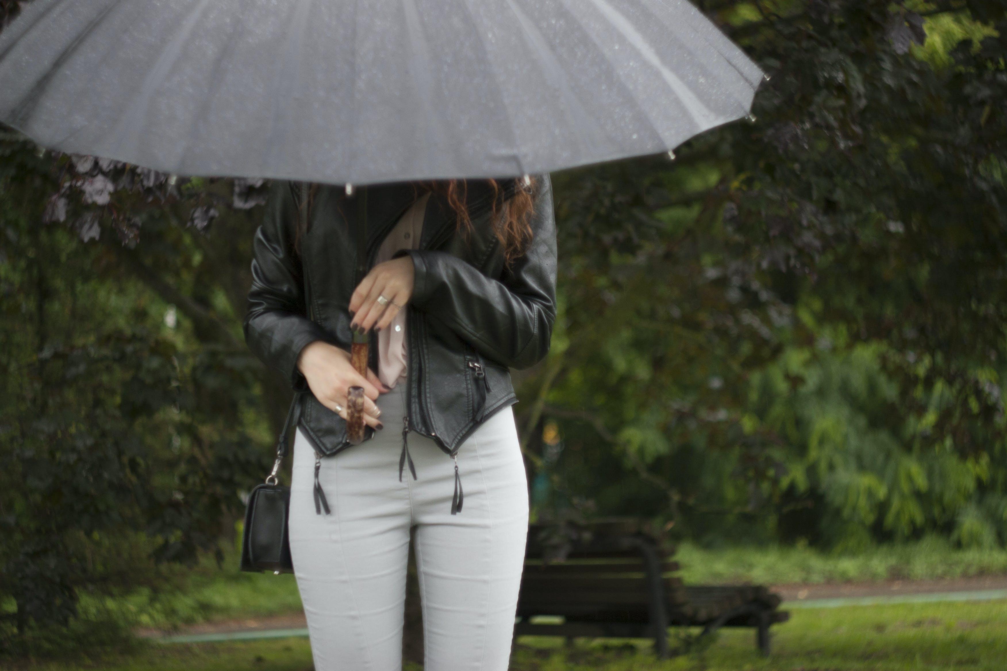 Free stock photo of girl, rain, umbrella
