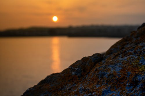 Free stock photo of free wallpaper, golden hour, rock, scenery