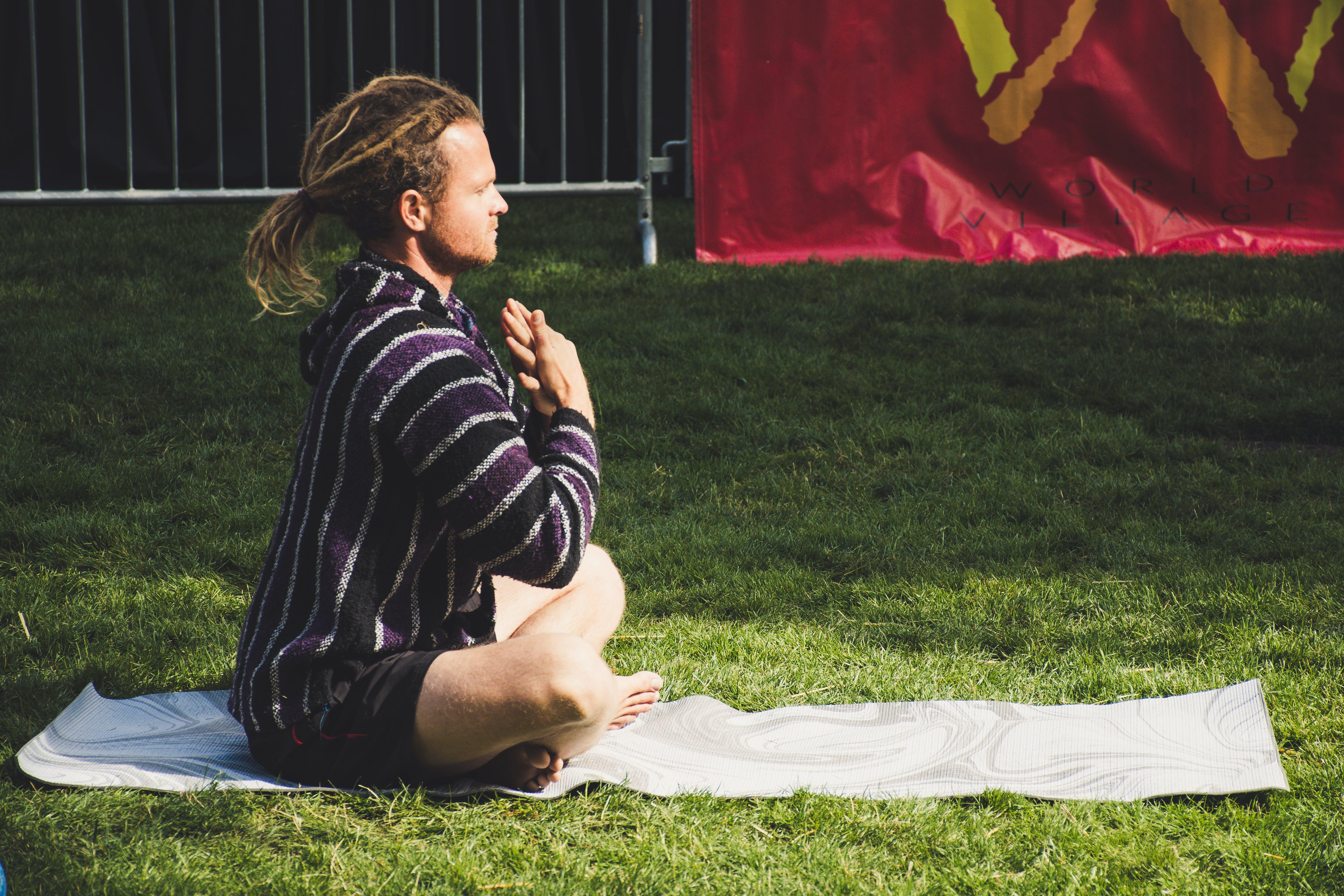 Man Doing Yoga Outdoor