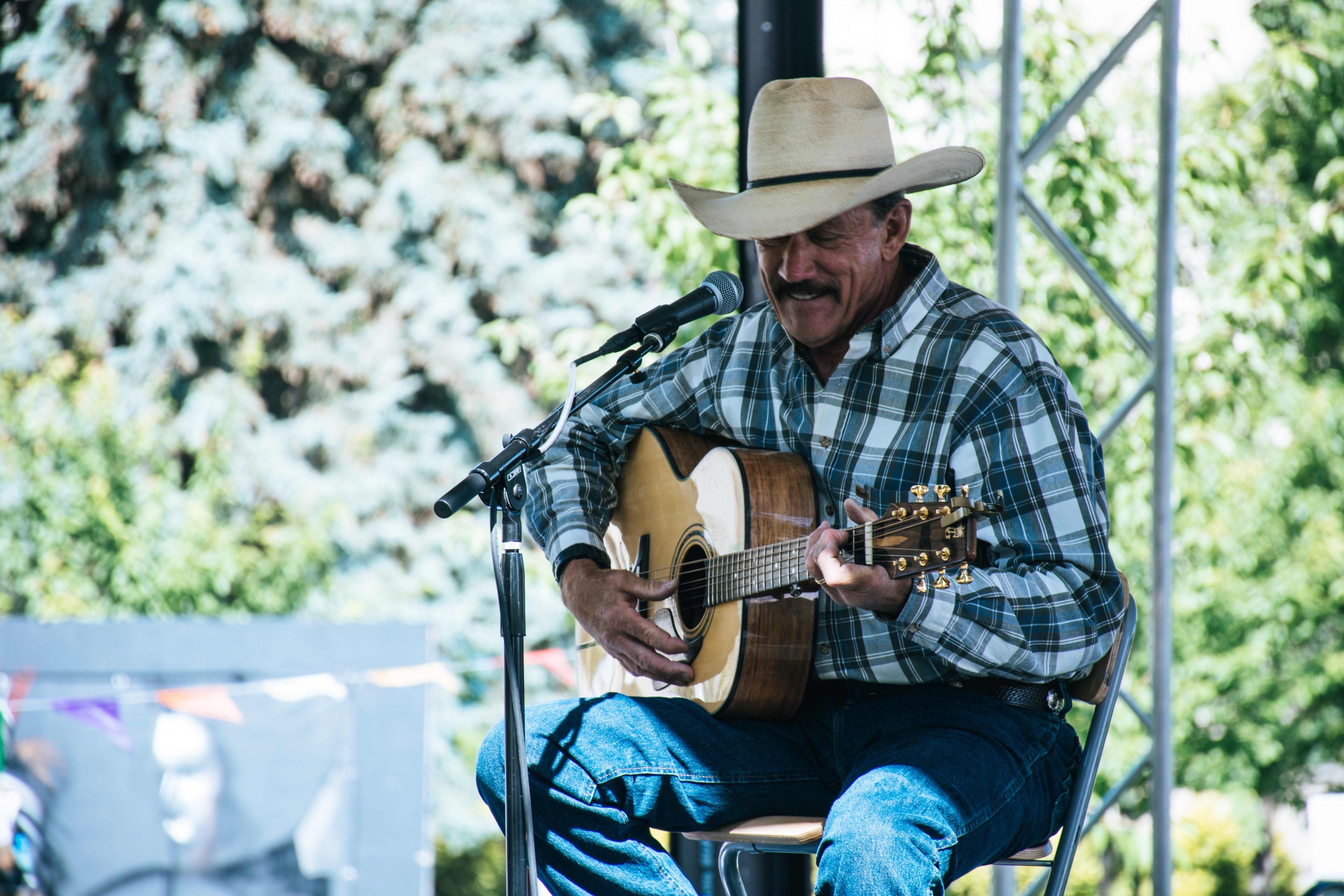 Man Playig Guitar