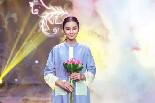 Free stock photo of asian girl, beautiful flowers, fashion