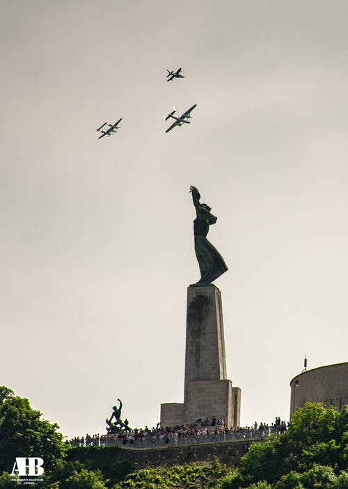 Free stock photo of airplane, budapest, hill