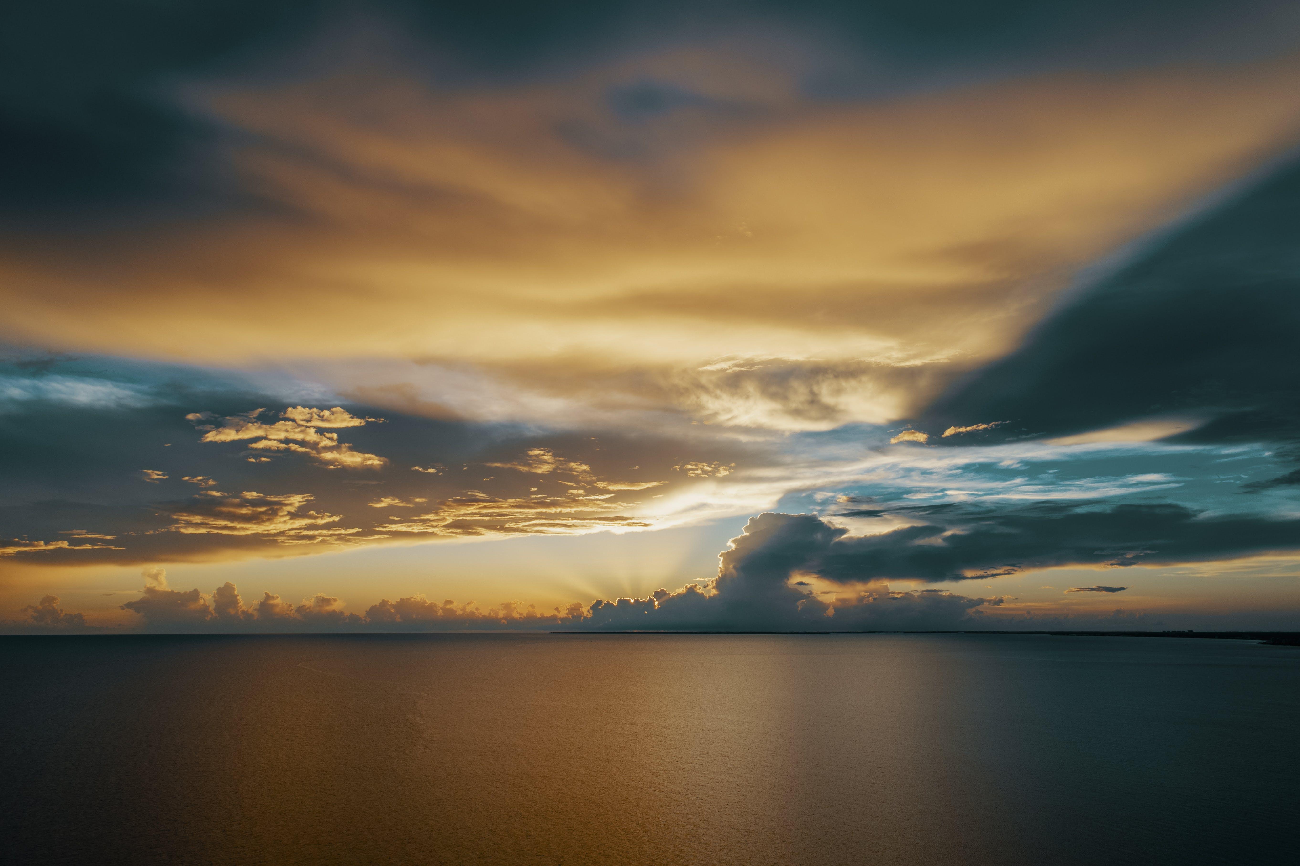 abend, dämmerung, himmel