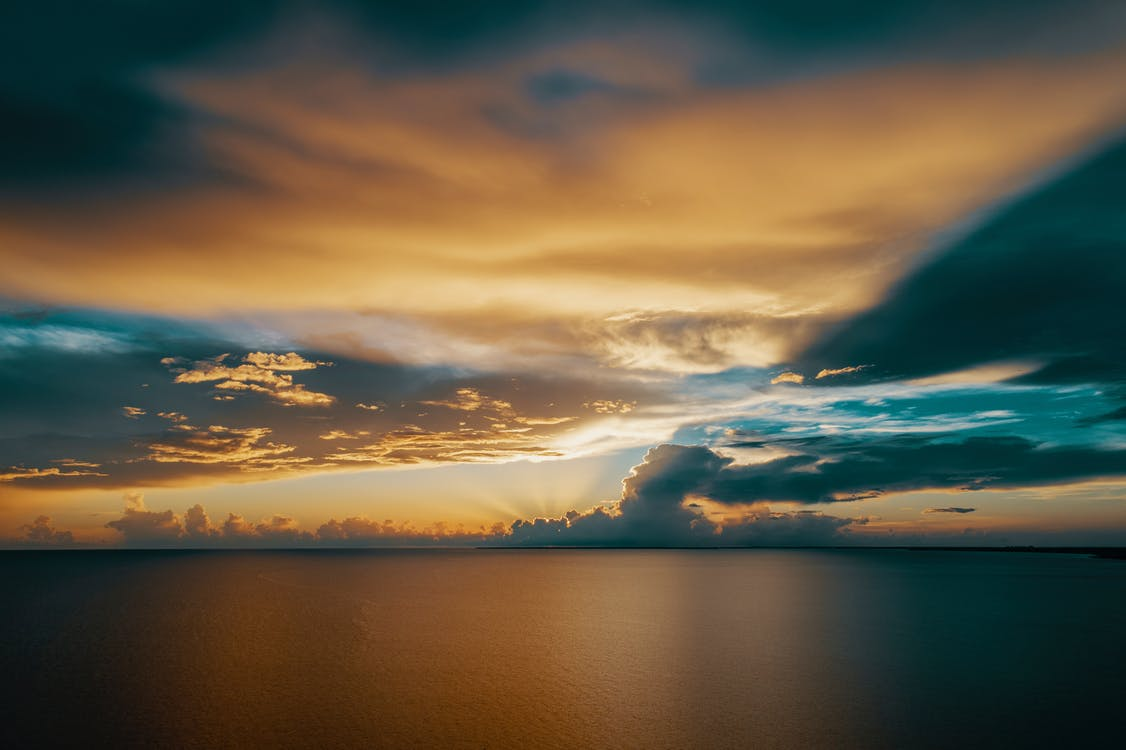ég, este, felhők