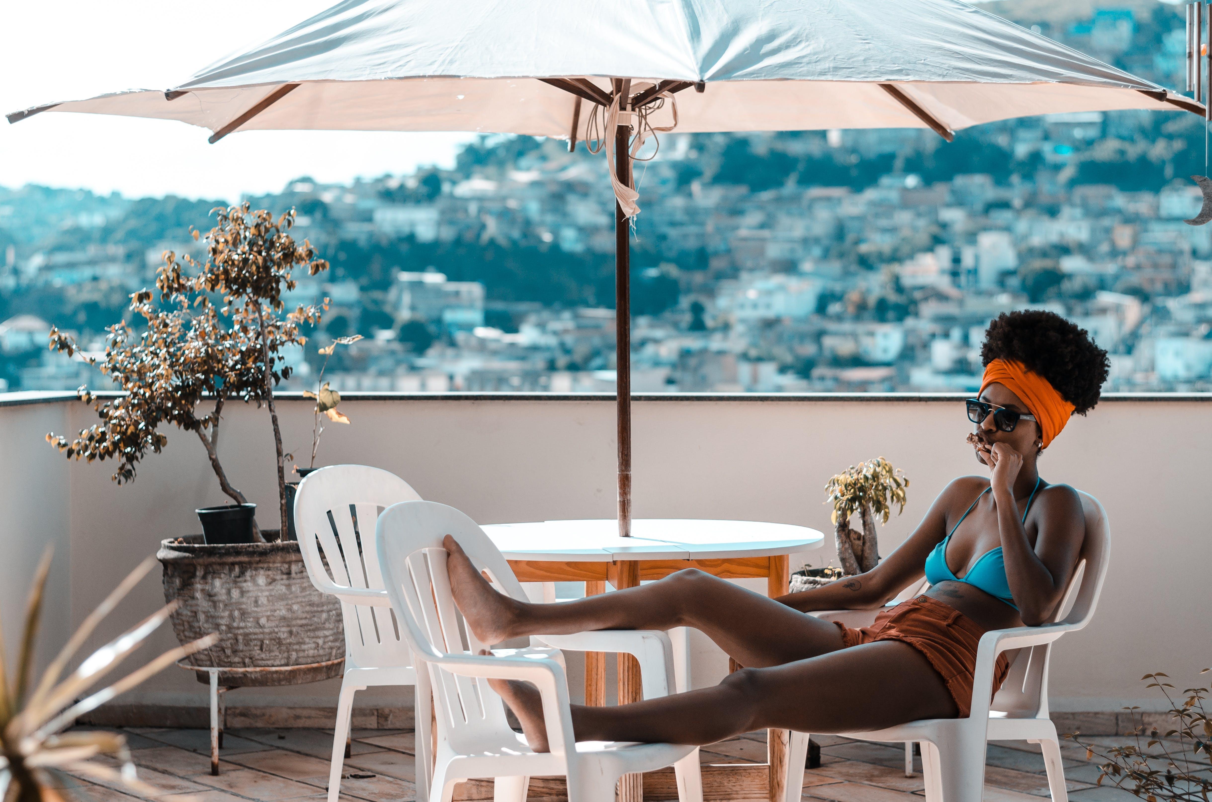 black woman, female, leisure