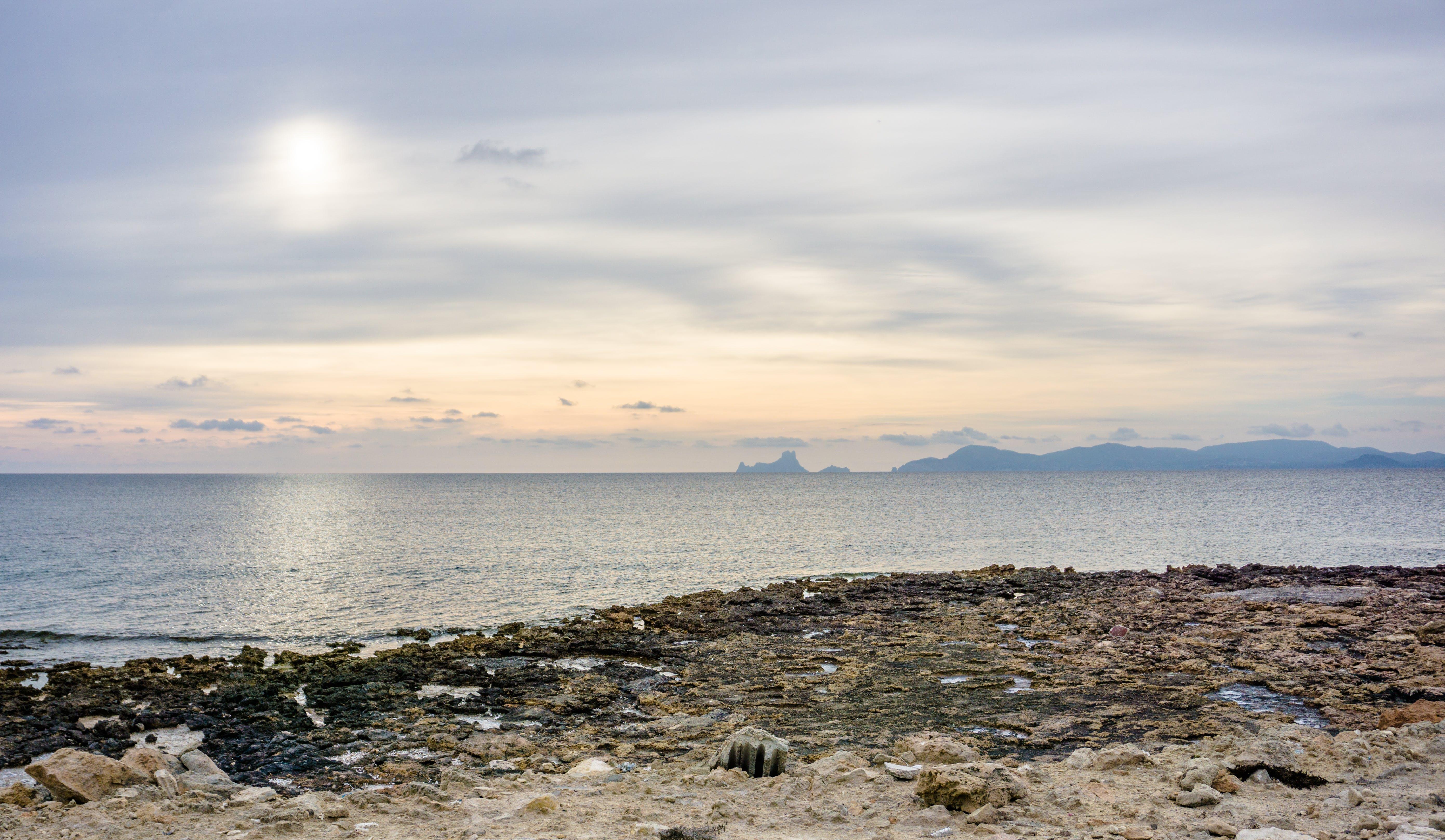 Gray Rocks Near Sea