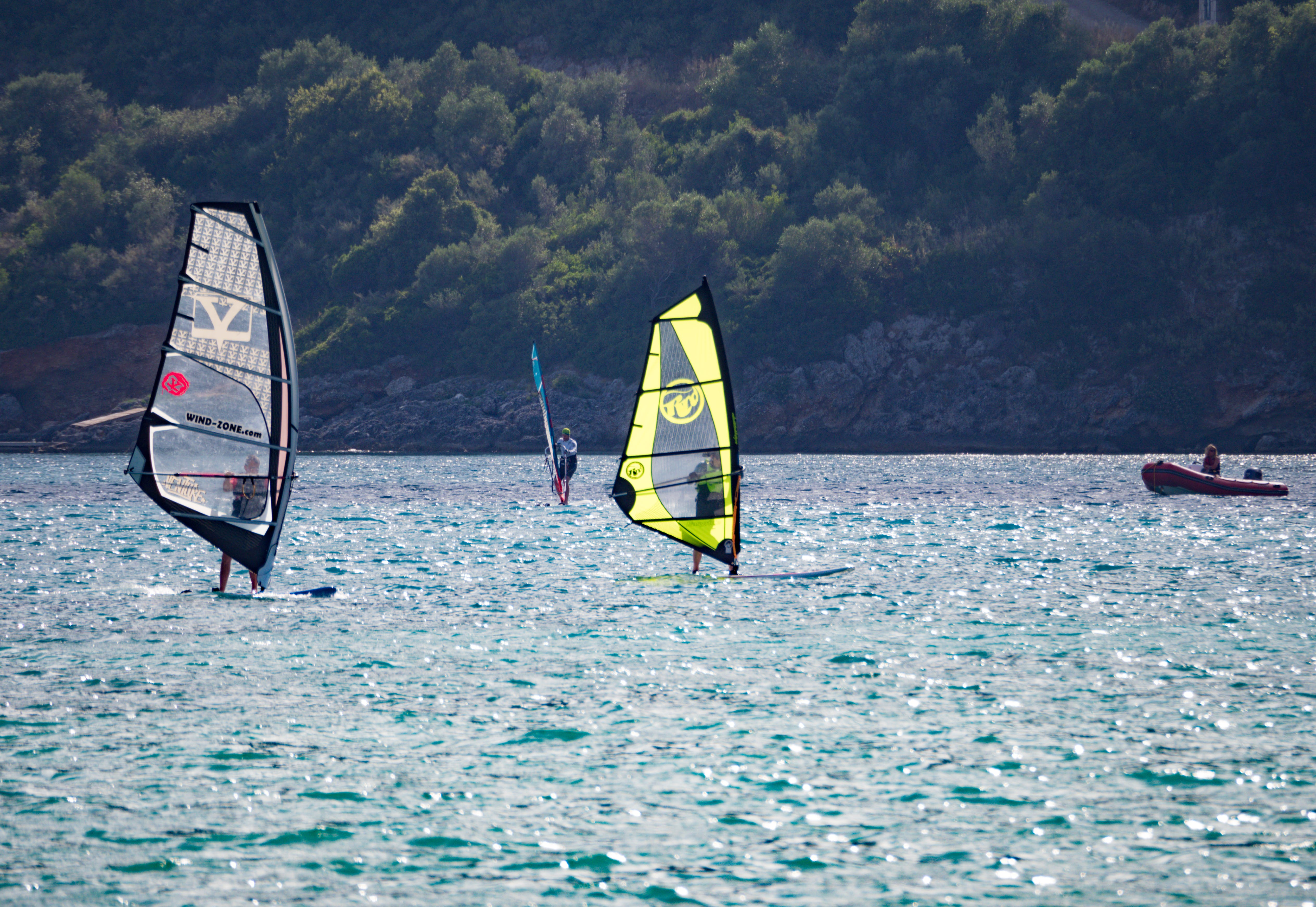 Gray and Yellow Sails