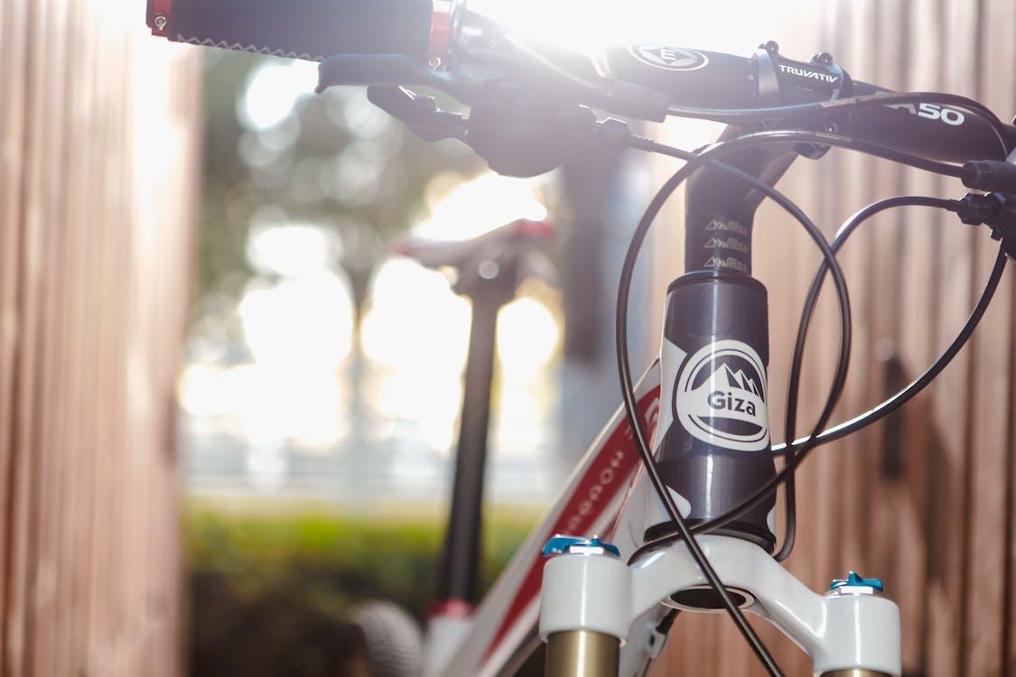 Black Red and White Road Bike