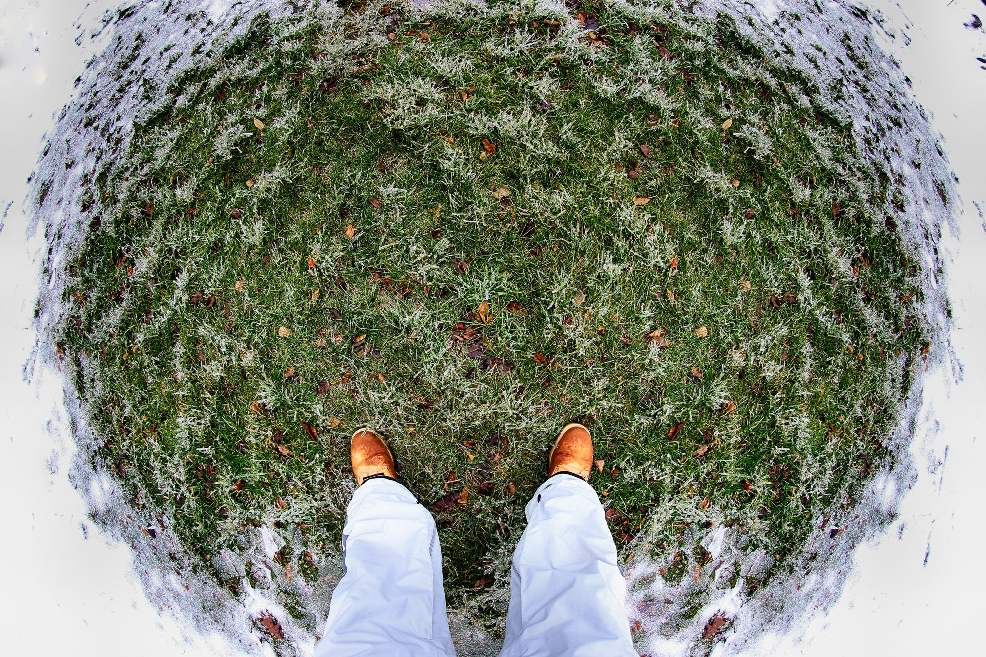 Free stock photo of circle, snow, standing