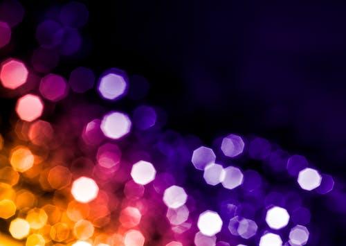 Бесплатное стоковое фото с огни, радуга