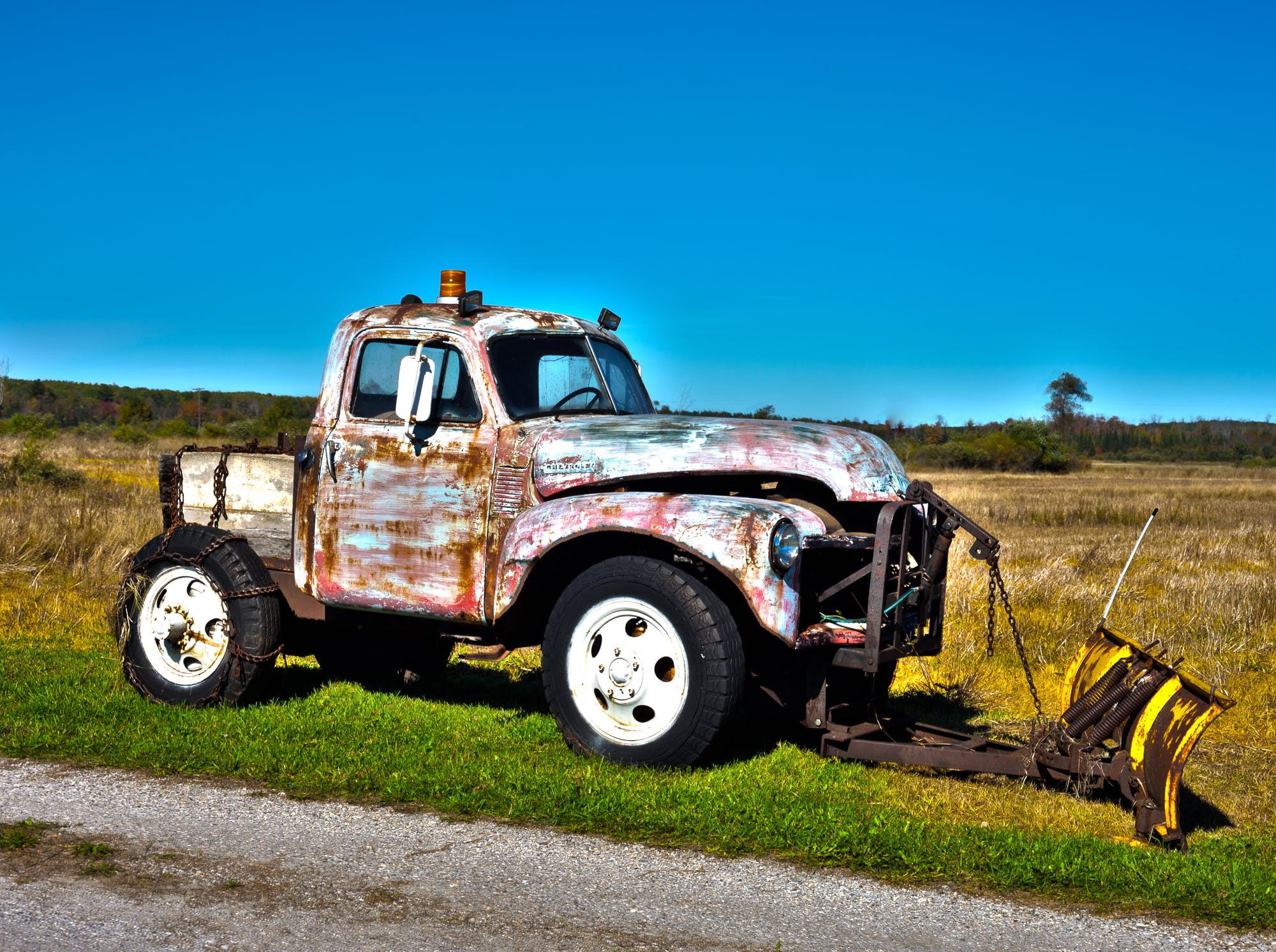 Free stock photo of hdr, old truck, pickup, plow