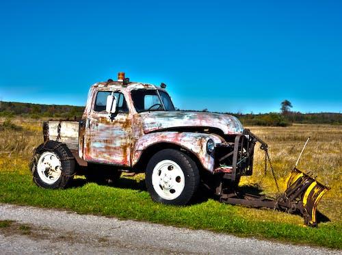 Бесплатное стоковое фото с hdr, плуг, подобрать, старый грузовик
