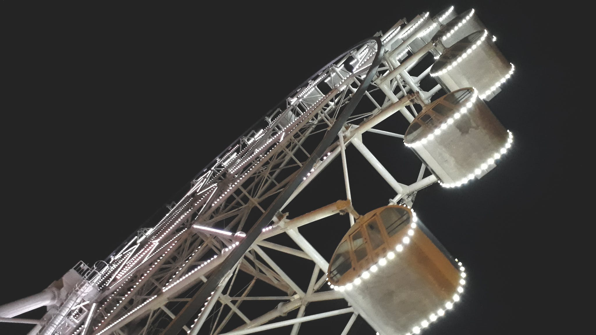 Free stock photo of ferris wheel, night, night lights