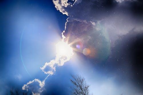 Бесплатное стоковое фото с дождь, небо, облака, солнце