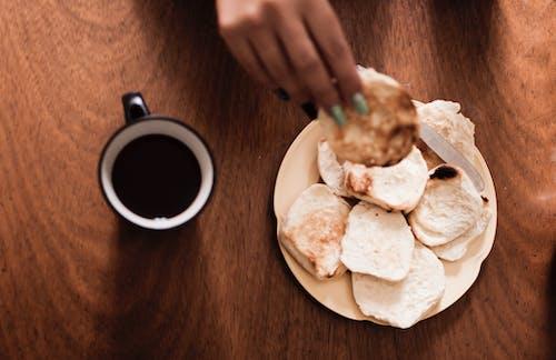 Imagine de stoc gratuită din cafea neagră, pâine prăjită