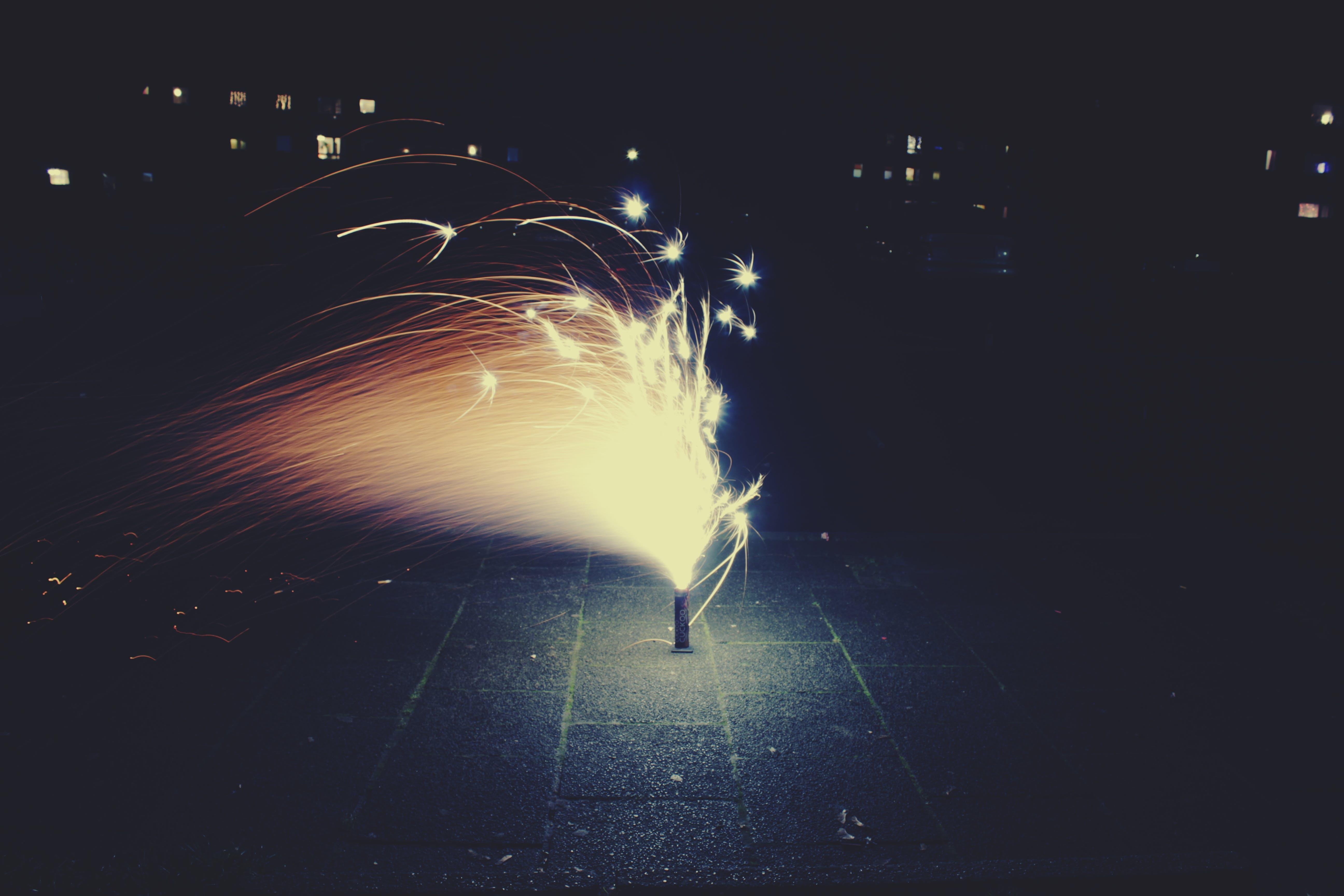 beleuchtung, feuerwerk, lichter