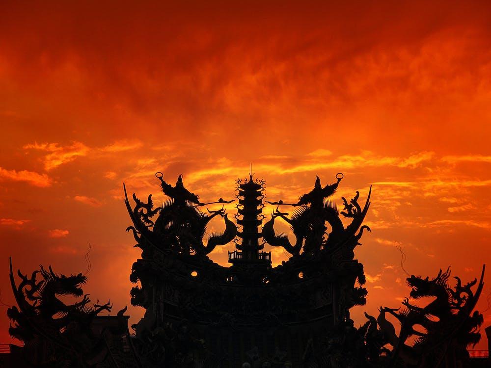 Ảnh lưu trữ miễn phí về đền trung quốc, điêu khắc, đồ gốm