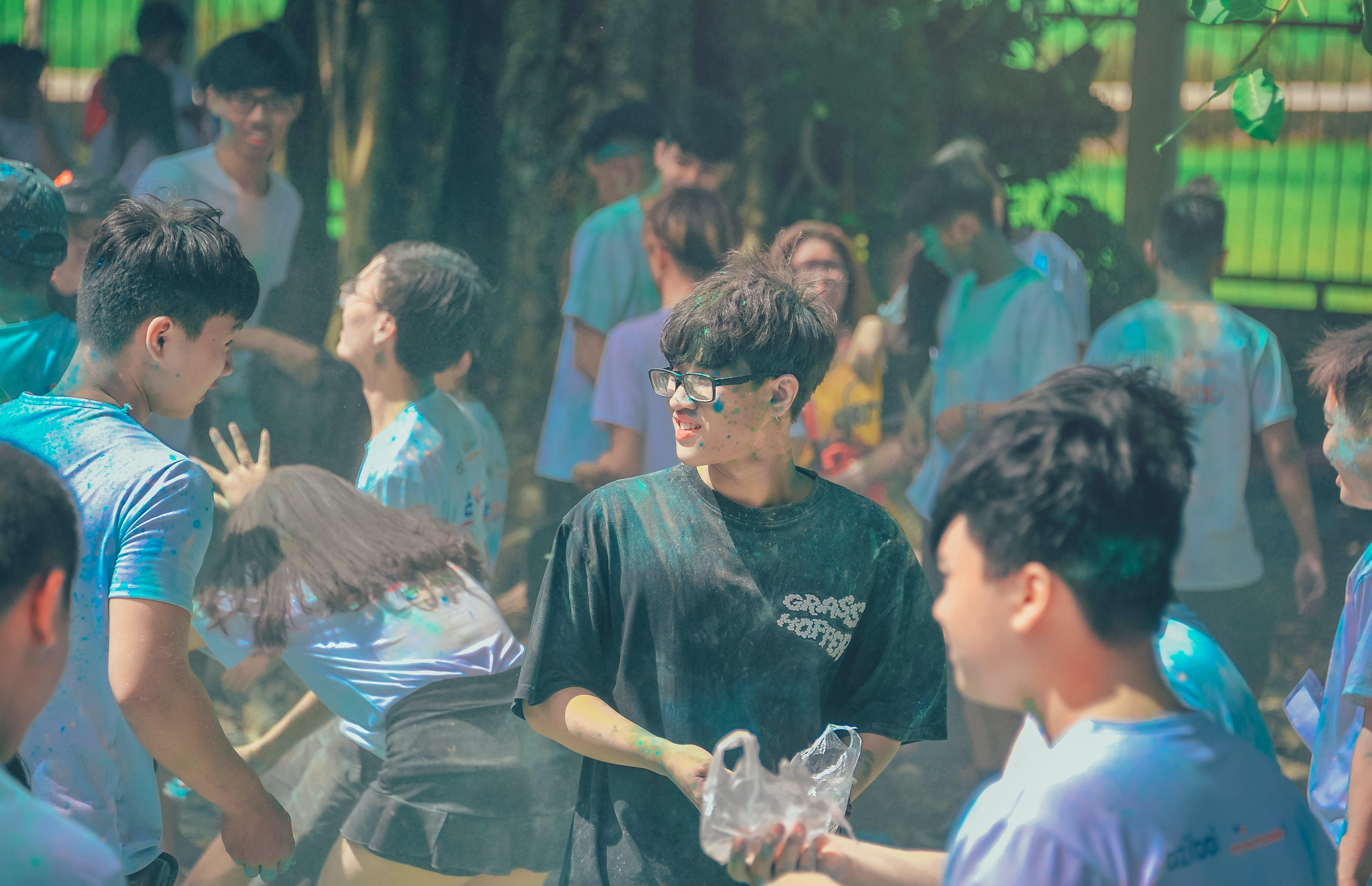 asien: menschen, feier, festival