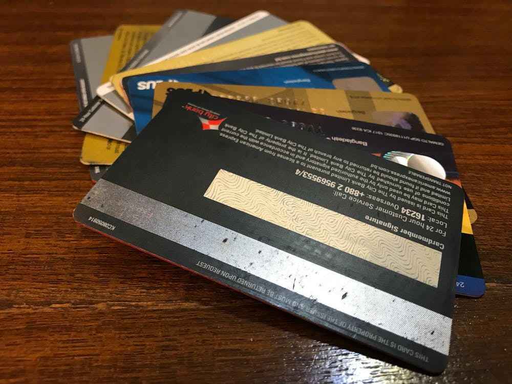 Free stock photo of credit card