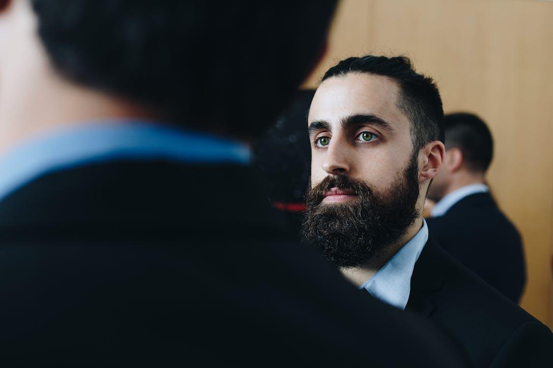 abito, adulto, barba folta