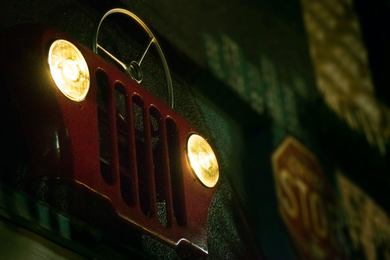 Free stock photo of car, light, metal, mural