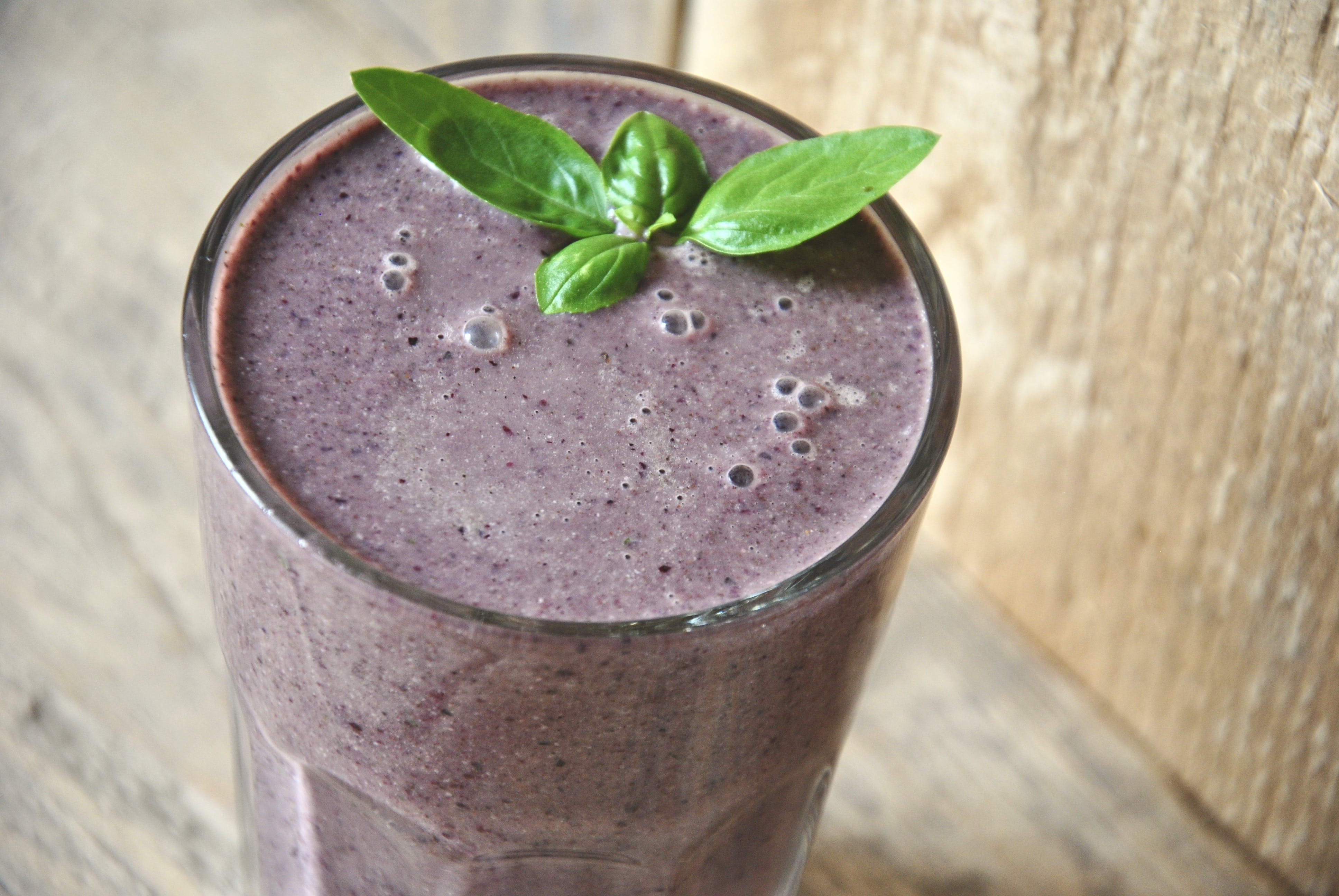 Free stock photo of basil, breakfast, purple, smoothie