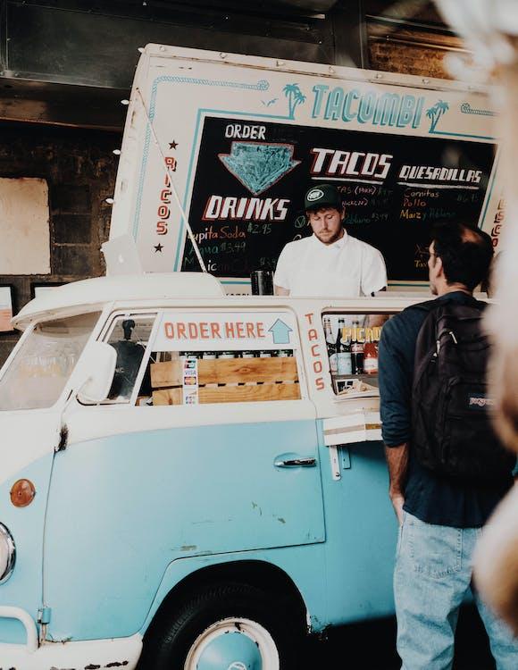 cibo, food truck, persone
